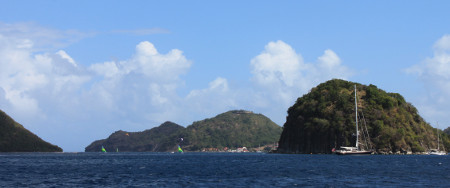 Vista delle isole di Les Saints