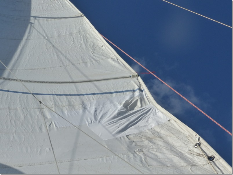 Dec 6th - Patches on the mainsail